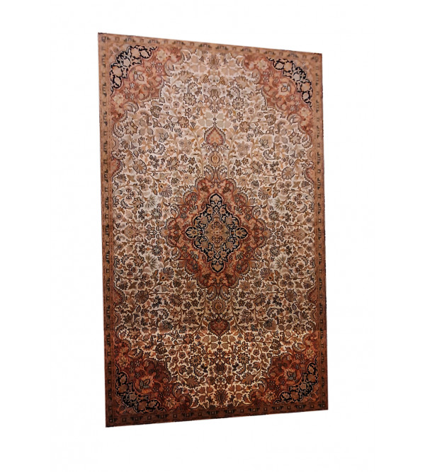 Kashmir Carpet Hand-knotted Silk x Silk Size 4ftx6ft