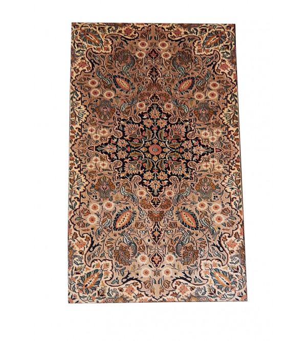 CARPET SILKSILK 212X4 ft 28X28 IVORY BASE kashmir carpet