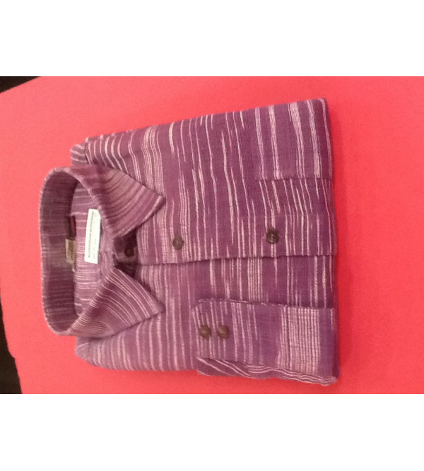 Cotton Plain Shirt Full Sleeve Size 48 Inch