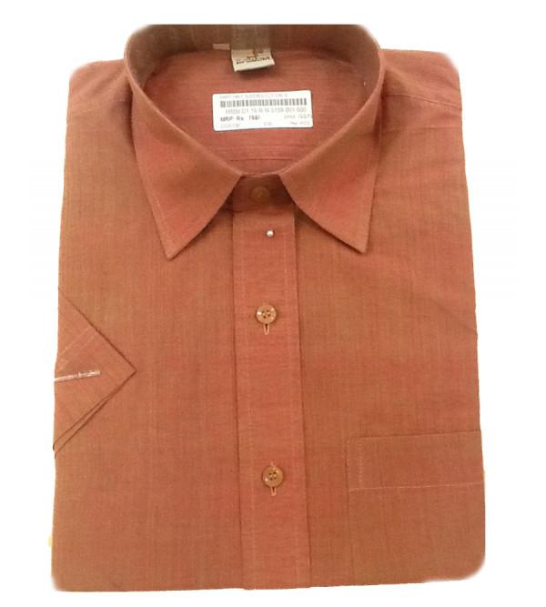 Plain Cotton Shirt Half Sleeve Size 38 Inch