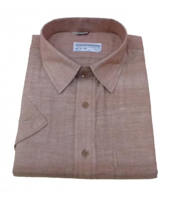 Plain Cotton Shirt Half Sleeve Size 48 Inch