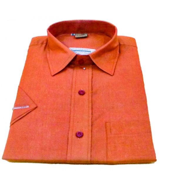 Plain Cotton Shirt Half Sleeve Size 40 Inch