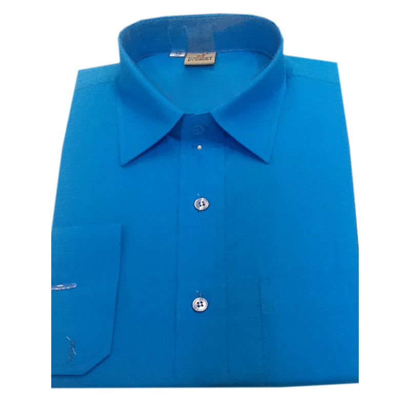 Plain Cotton Shirt Full Sleeves Size 38 Inch