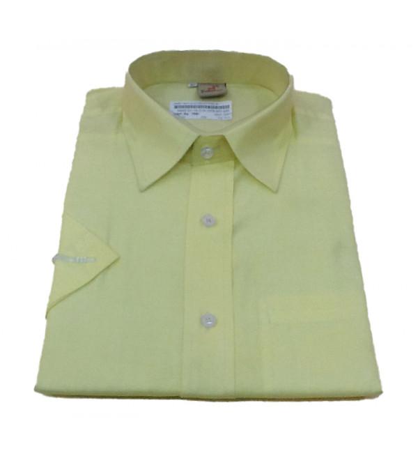 Cotton Plain Shirt Half Sleeve Size 40 Inch