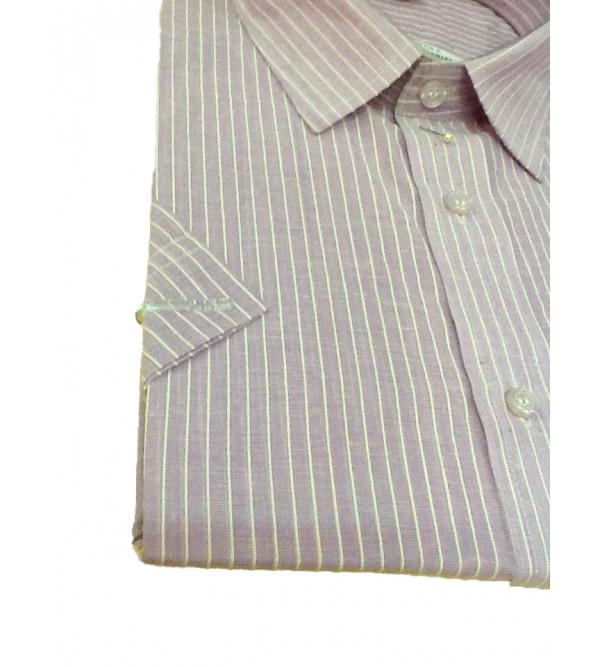 Cotton Stripe Shirt Half Sleeves Size 44 Inch