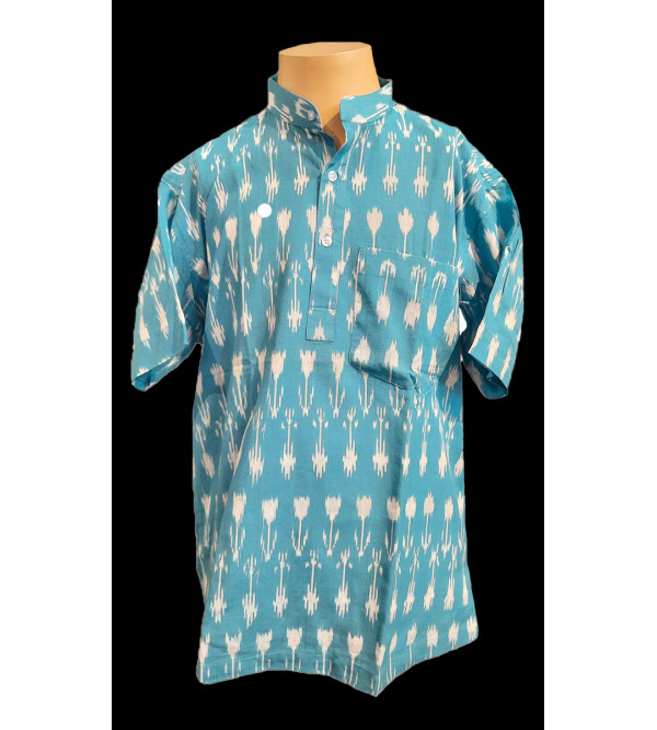 Cotton Short Kurta Handloom Half Sleeve Size 42 Inch