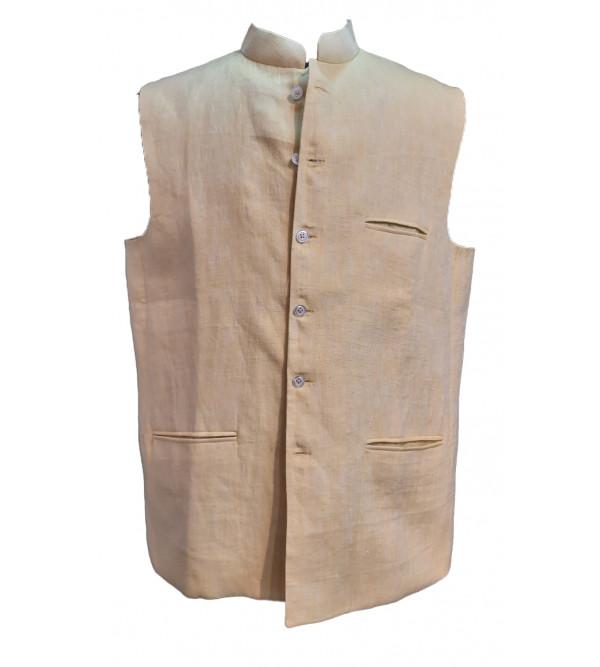 Linen Nehru Jacket size 46 Inch