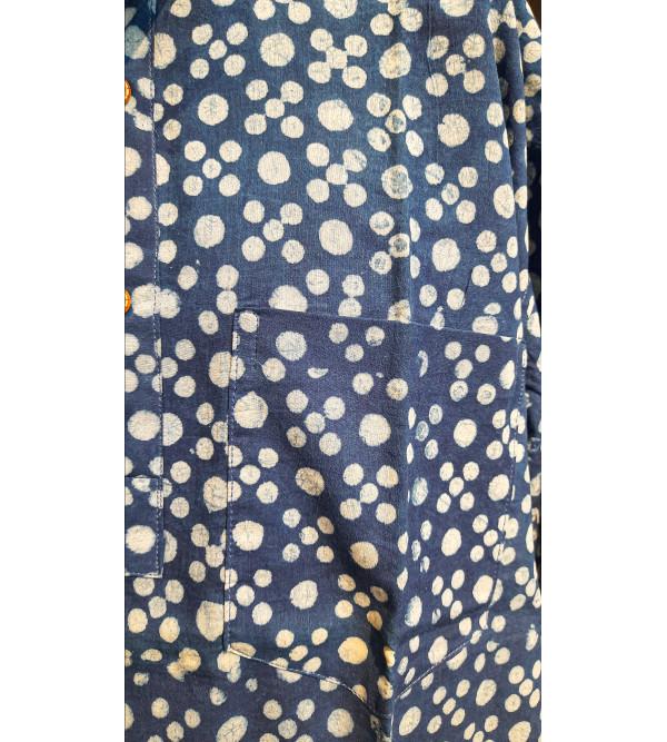 Akola Printed Cotton Short Kurta Half Sleeve Size 42 Inch