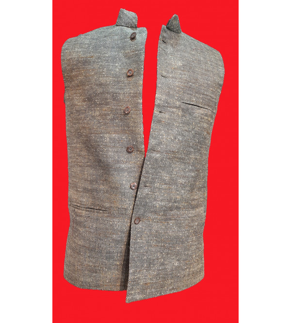 Cotton Plain Nehru Jacket size 38 Inch