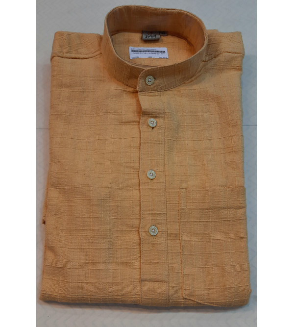 Cotton Long Kurta Handloom Full Sleeve Size 44 Inch