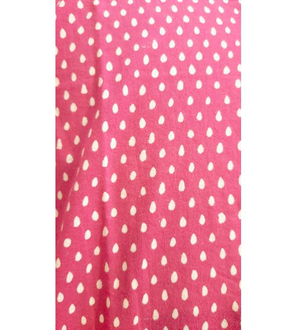 Akola Printed Short Kurta Handloom Half Sleeve Size 44 Inch