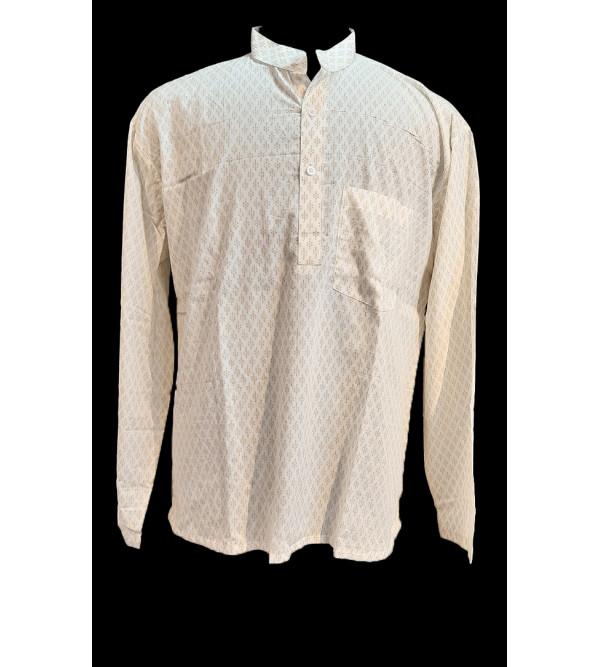 Printed Cotton Short Kurta Full Sleeve Size 46 Inch