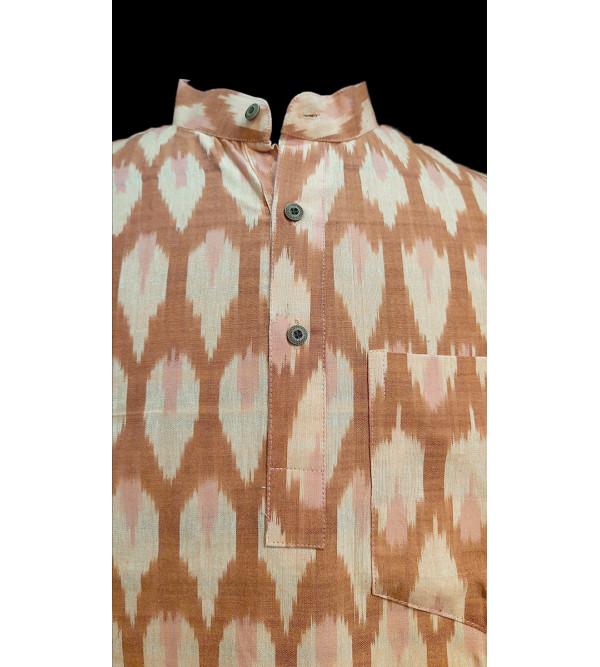Cotton Short Kurta Handloom Half Sleeve Size 44 Inch