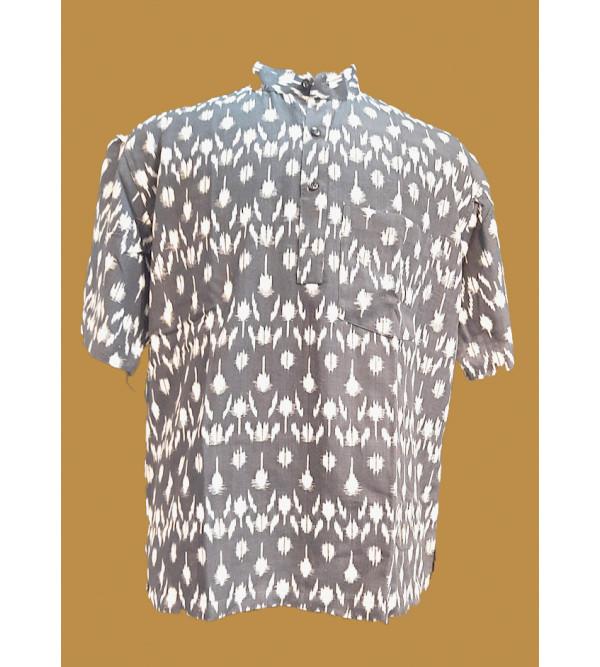 Printed Short Kurta Handloom Half Sleeve Size 46 Inch
