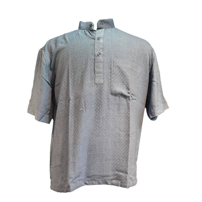 Plain Cotton Short Kurta Half Sleeve Size 46 Inch