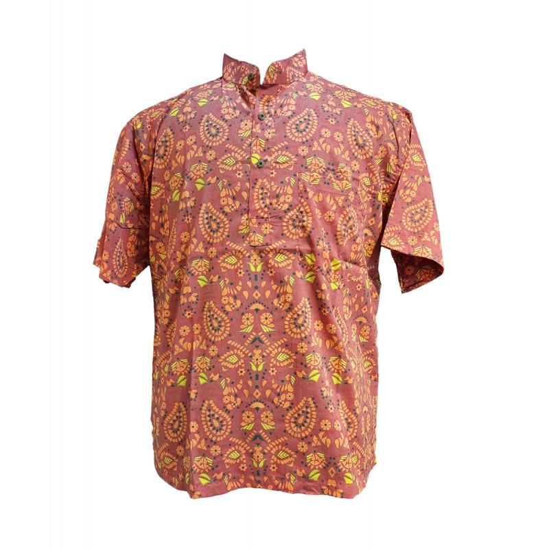 Printed Cotton Short Kurta Half Sleeve Size 44 Inch