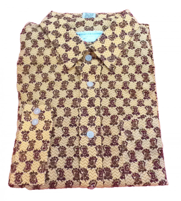 Printed Cotton Shirt Handloom Full Sleeve Size 46 Inch