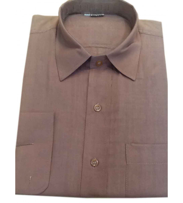 Cotton Plain Shirt Full Sleeve Size 38 Inch