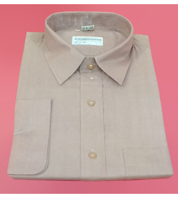 Plain Cotton Shirt Full Sleeve Size 46 Inch