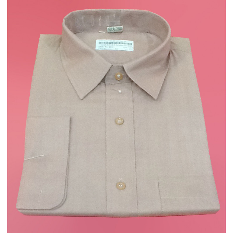 Plain Cotton Shirt Full Sleeve Size 46 Inch