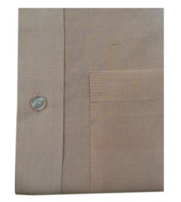 Cotton Plain Shirt Half Sleeve Size 38 Inch