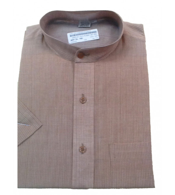 Cotton Stripe Shirt Half Sleeve Size 40 Inch