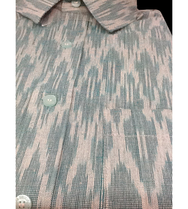 Cotton Ikat Shirt Full Sleeve Size 40 Inch