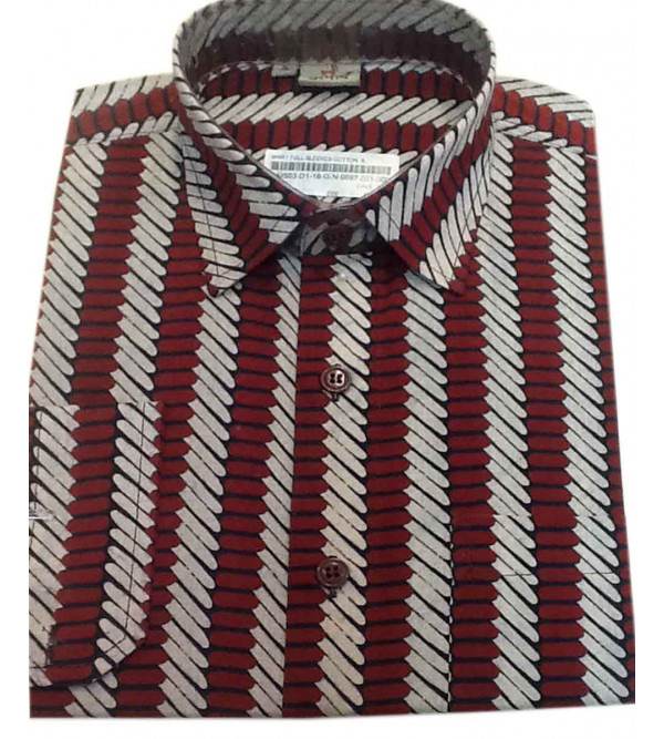 Printed Cotton Shirt Full Sleeve Size 38 Inch