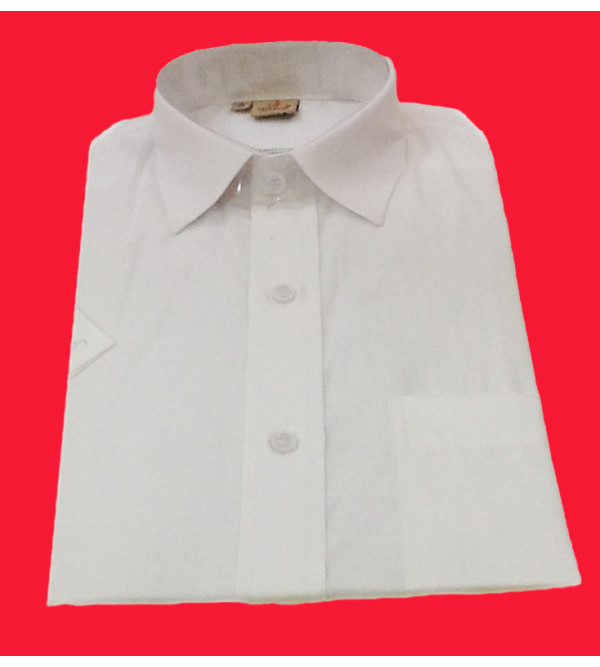 Cotton Plain Shirt Half Sleeve Size 38 Inch