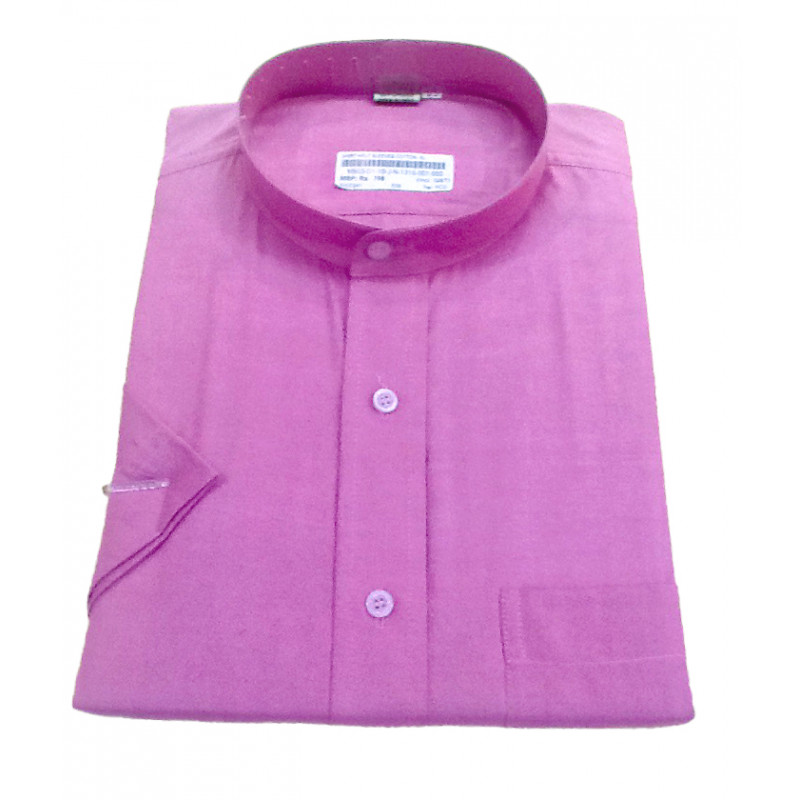 Plain Cotton Shirt Half Sleeve Size 44 Inch