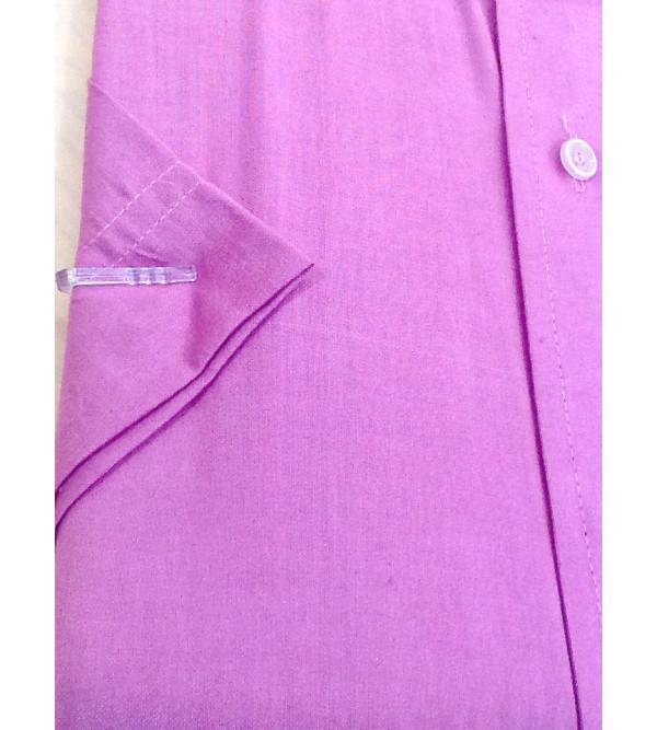 Cotton Plain Shirt Half Sleeve Size 44 Inch