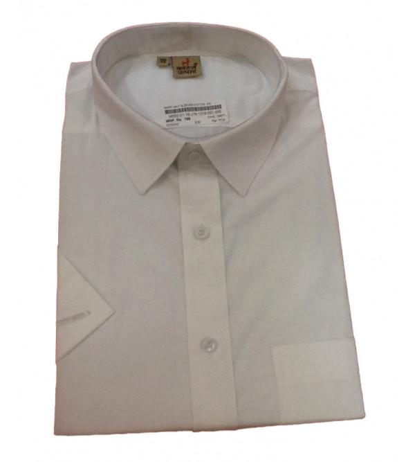 Cotton Plain Shirt Half Sleeve Size 46 Inch