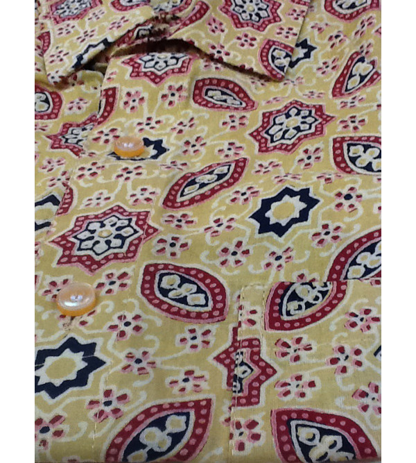 Printed Cotton Shirt Half Sleeve Size 44 Inch