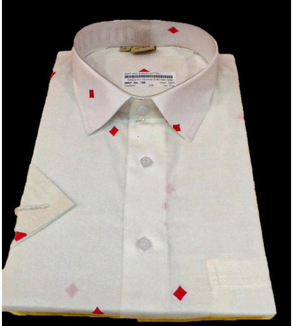 Printed Cotton Shirt Half Sleeve Size 42 Inch