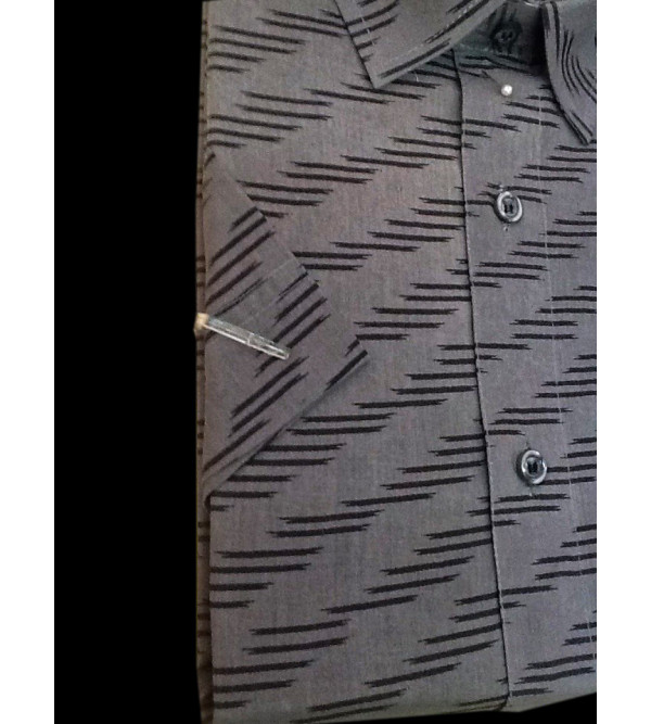 Printed Cotton Shirt Half Sleeve Size 40 Inch