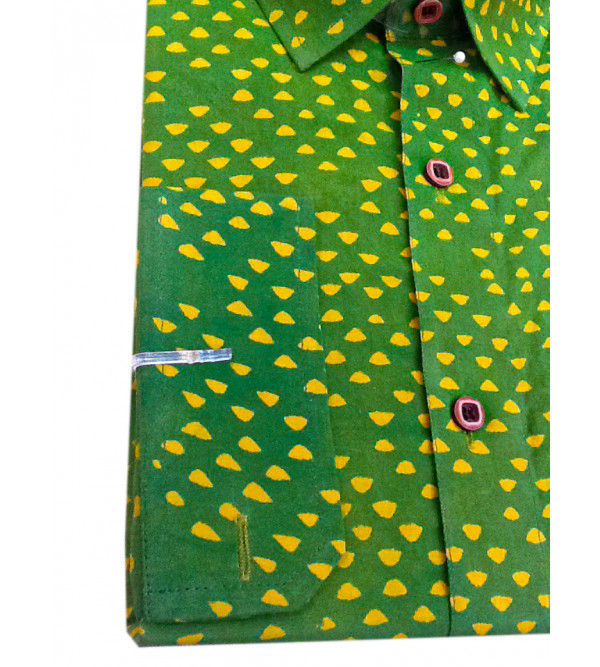Printed Akola Shirt Handloom Full Sleeve Size 42 Inch