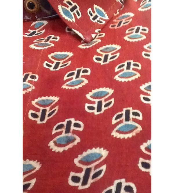 Printed Shirt Handloom Full Sleeve Size 42 Inch