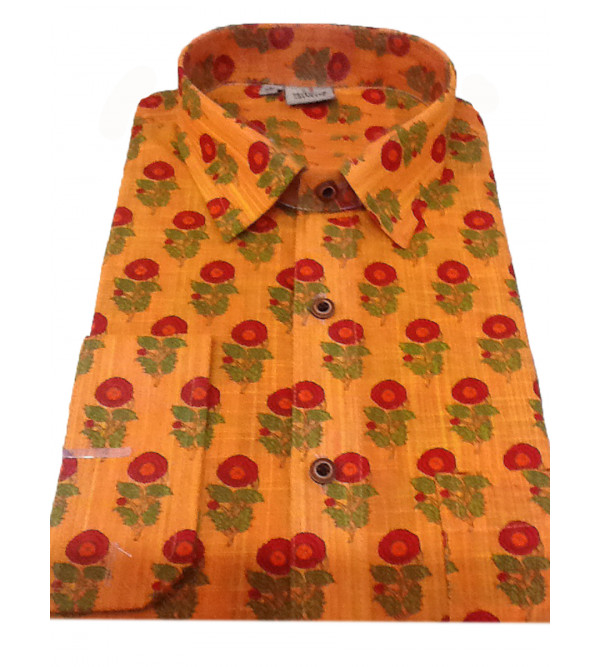 Cotton Printed Shirt Full Sleeve Size 40 Inch