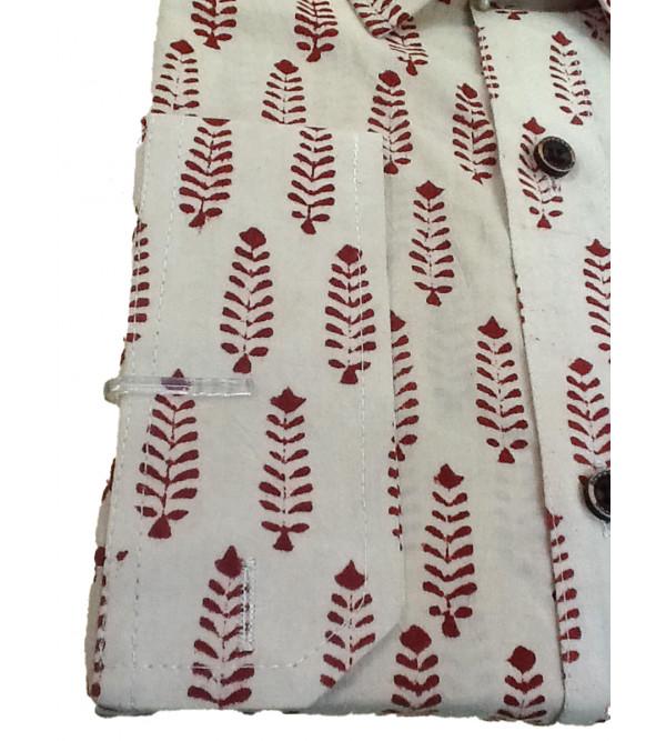 Printed Shirt Handloom Full Sleeve Size 44 Inch