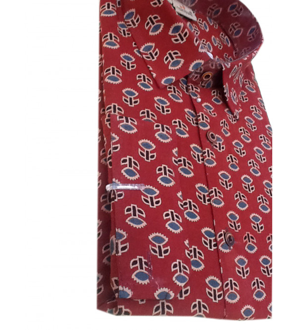 Cotton Printed Shirt Full Sleeve Size 42 Inch