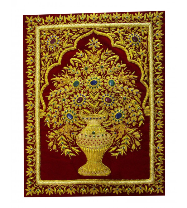 Carpet  Jewel 100  Zari Work Size 2 X1.5 Ft