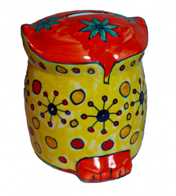 Khurja Painted Money Box Size 4 Inch