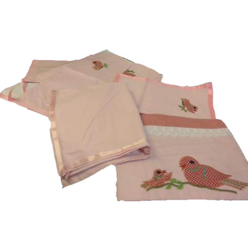 Cotton Embroidery Bedsheet For Children Size 40x40 inches.