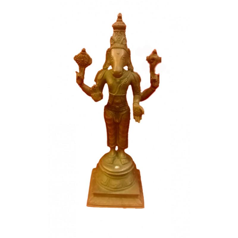 Kalki Avataram Handcrafted In Bronze Size 9 Inches