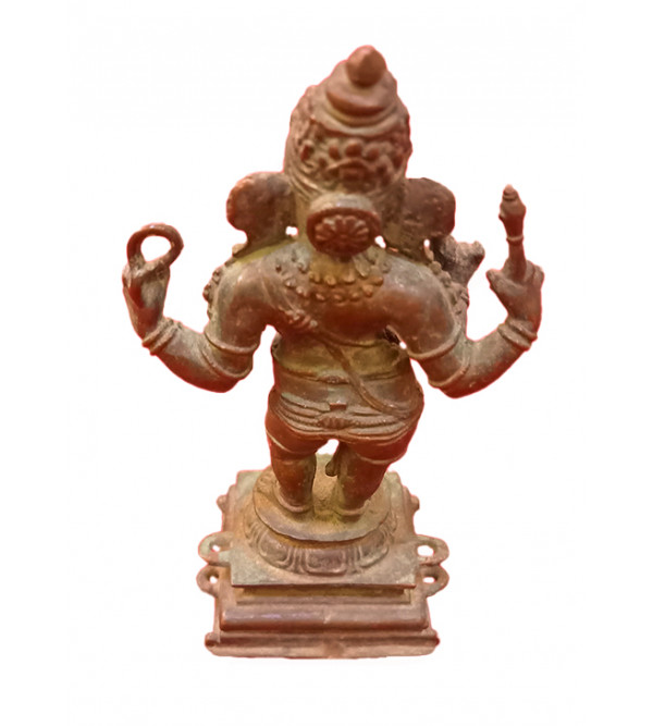 Ganesha Handcrafted In Bronze Size 3.5 Inches