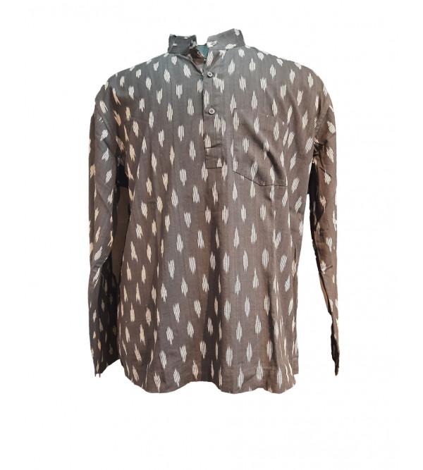 Ikat Cotton Short Kurta Full Sleeve Size 46 Inch