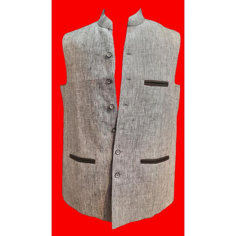Linen Nehru Jacket size 44 Inch