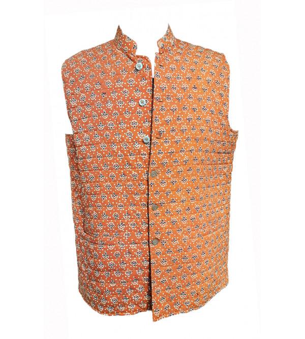 Printed Cotton Nehru Jacket size 44 Inch