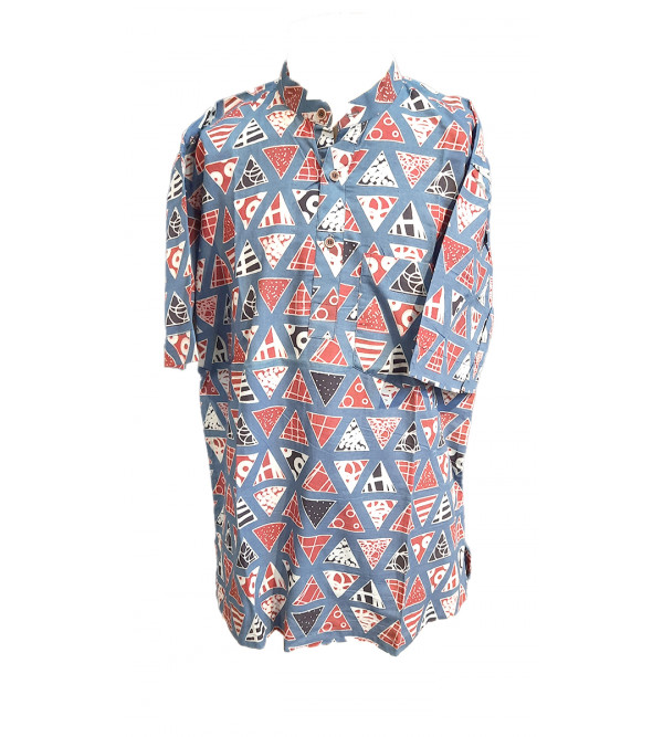 KURTA SHORT COTTON PRINTED L 42