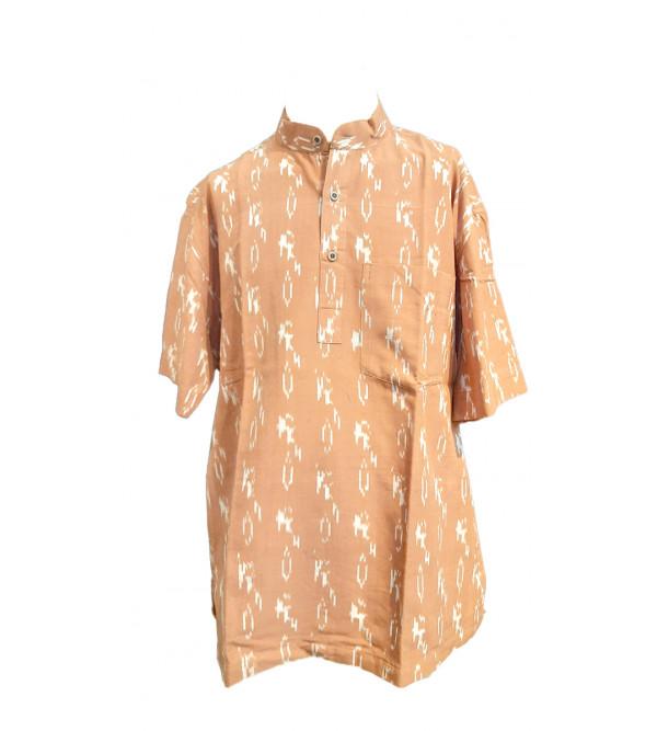 Cotton Ikat Short Kurta Handloom Half Sleeve Size 42Inch